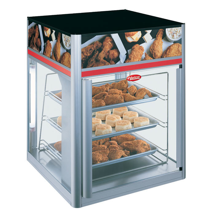 Hatco FSD-2 Flav-R-Savor Two Door Holding and Display Cabinet with Three Tier Circle Rack and Motor Main Image 1