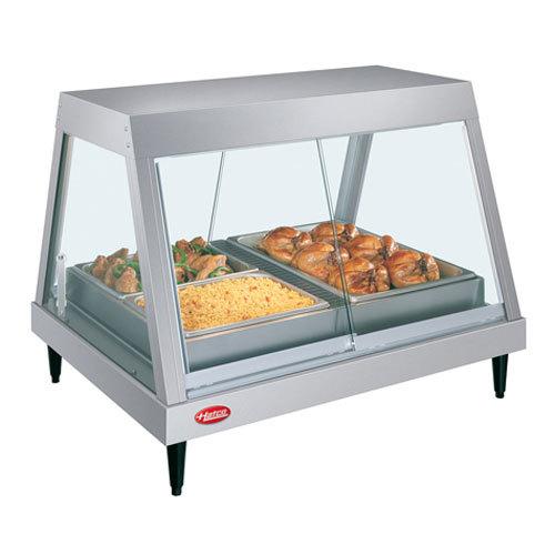 """Hatco GRHD-4P Stainless Steel Glo-Ray 58 1/2"""" Full Service Single Shelf Merchandiser - 120/208V Main Image 1"""