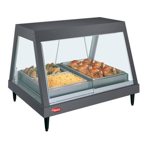 """Hatco GRHD-4P Gray Granite Stainless Steel Glo-Ray 58 1/2"""" Full Service Single Shelf Merchandiser - 120/208V"""
