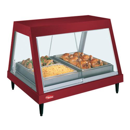 "Hatco GRHD-4P Warm Red Stainless Steel Glo-Ray 58 1/2"" Full Service Single Shelf Merchandiser - 120/240V"