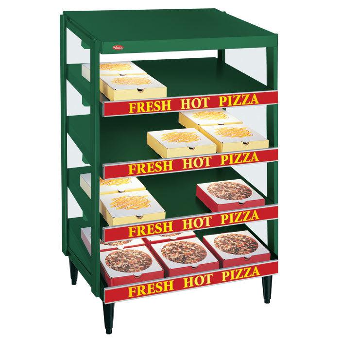 "Hatco GRPWS-3624Q Hunter Green Glo-Ray 36"" Quadruple Shelf Pizza Warmer - 120/208V, 3600W"