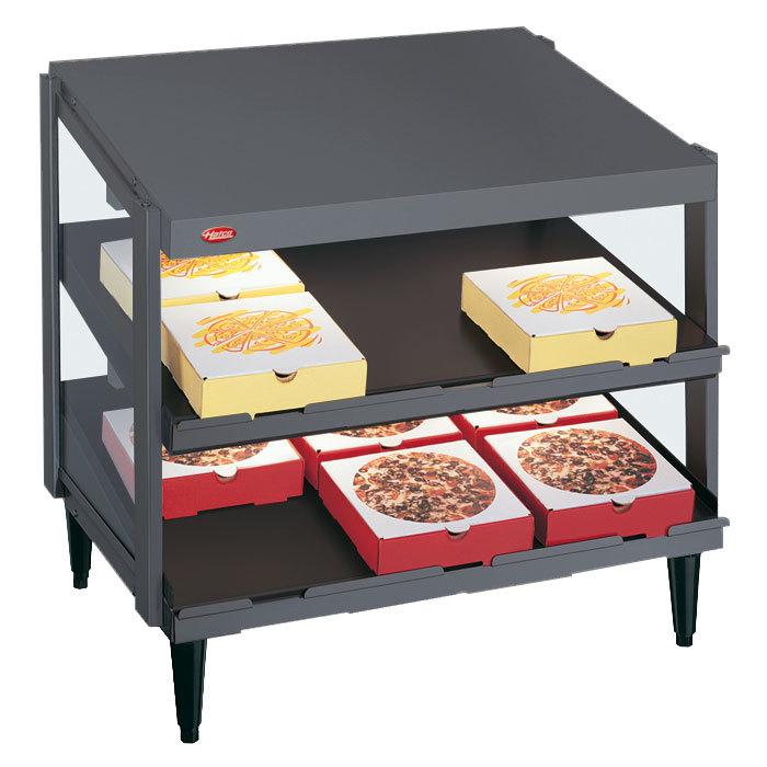 "Hatco GRPWS-3618D Granite Gray Glo-Ray 36"" Double Shelf Pizza Warmer - 1440W"