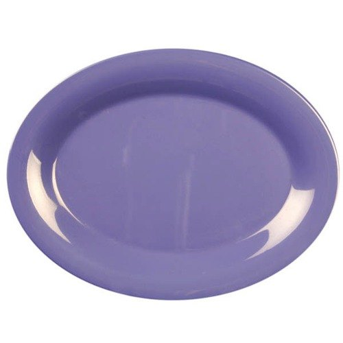 "Thunder Group CR209BU 9 1/2"" x 7 1/4"" Oval Purple Platter - 12/Pack"