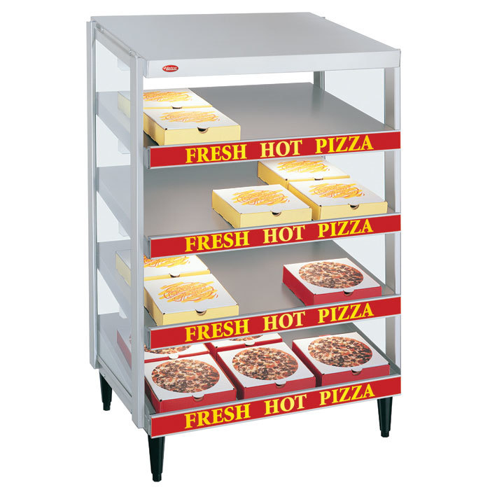 "Hatco GRPWS-3618Q Granite White Glo-Ray 36"" Quadruple Shelf Pizza Warmer - 120/208V, 2880W"