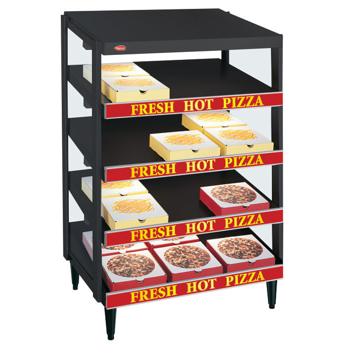 "Hatco GRPWS-3624Q Black Glo-Ray 36"" Quadruple Shelf Pizza Warmer - 120/208V, 3600W"