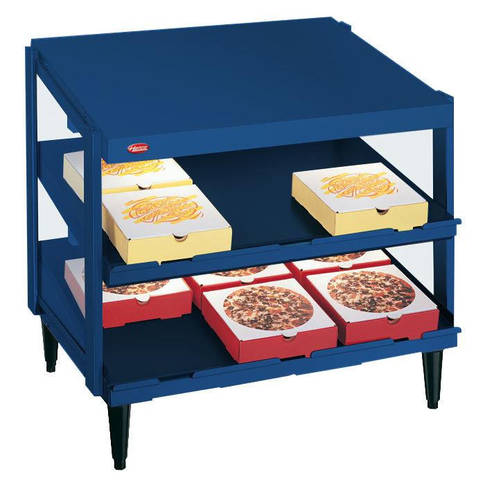 """Hatco GRPWS-3624D Navy Blue Glo-Ray 36"""" Double Shelf Pizza Warmer - 1800W"""