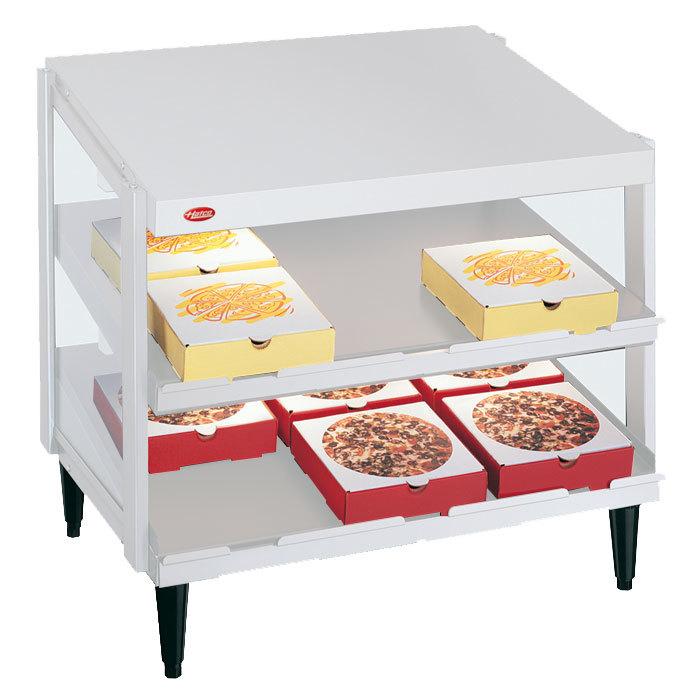 "Hatco GRPWS-3624D Granite White Glo-Ray 36"" Double Shelf Pizza Warmer - 1800W Main Image 1"