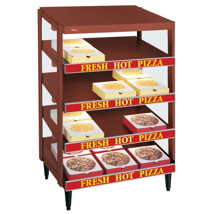 """Hatco GRPWS-3624Q Antique Copper Glo-Ray 36"""" Quadruple Shelf Pizza Warmer - 120/240V, 3600W"""