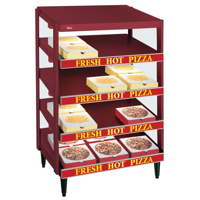 "Hatco GRPWS-3618Q Wine Red Glo-Ray 36"" Quadruple Shelf Pizza Warmer - 120/240V, 2880W"