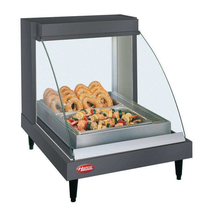 "Hatco GRCD-1P Gray 20"" Glo-Ray Full Service Single Shelf Merchandiser - 120V, 410W"