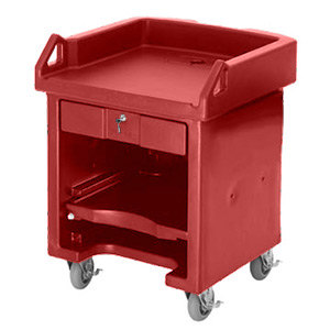 Cambro VCS158 Hot Red Versa Cart with Standard Casters Main Image 1
