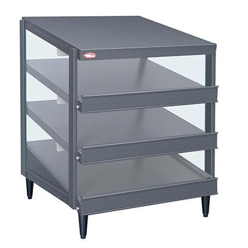 "Hatco GRPWS-4824T Granite Gray Glo-Ray 48"" Triple Shelf Pizza Warmer - 120/208V, 3585W"