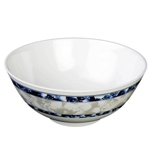 Thunder Group 5208DL Blue Dragon 56 oz. Round Melamine Rice Bowl - 12/Case