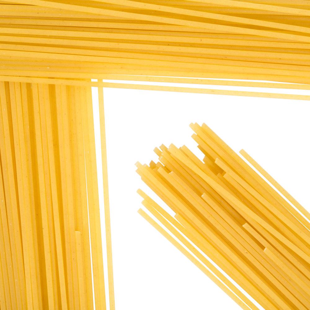Close up of dry spaghetti