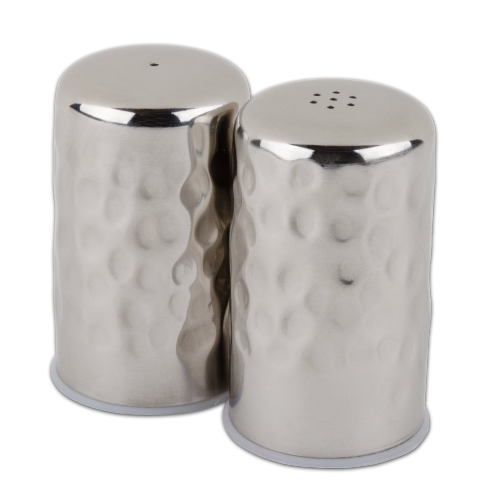 american metalcraft hmsp  oz hammered finish stainless steel  - hammered finish stainless steel salt  pepper shaker set main picture ·image preview