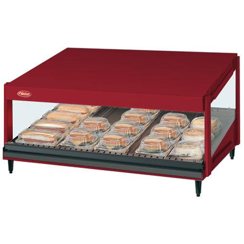 "Hatco GRSDS-52 Warm Red Glo-Ray 52"" Slanted Single Shelf Merchandiser"