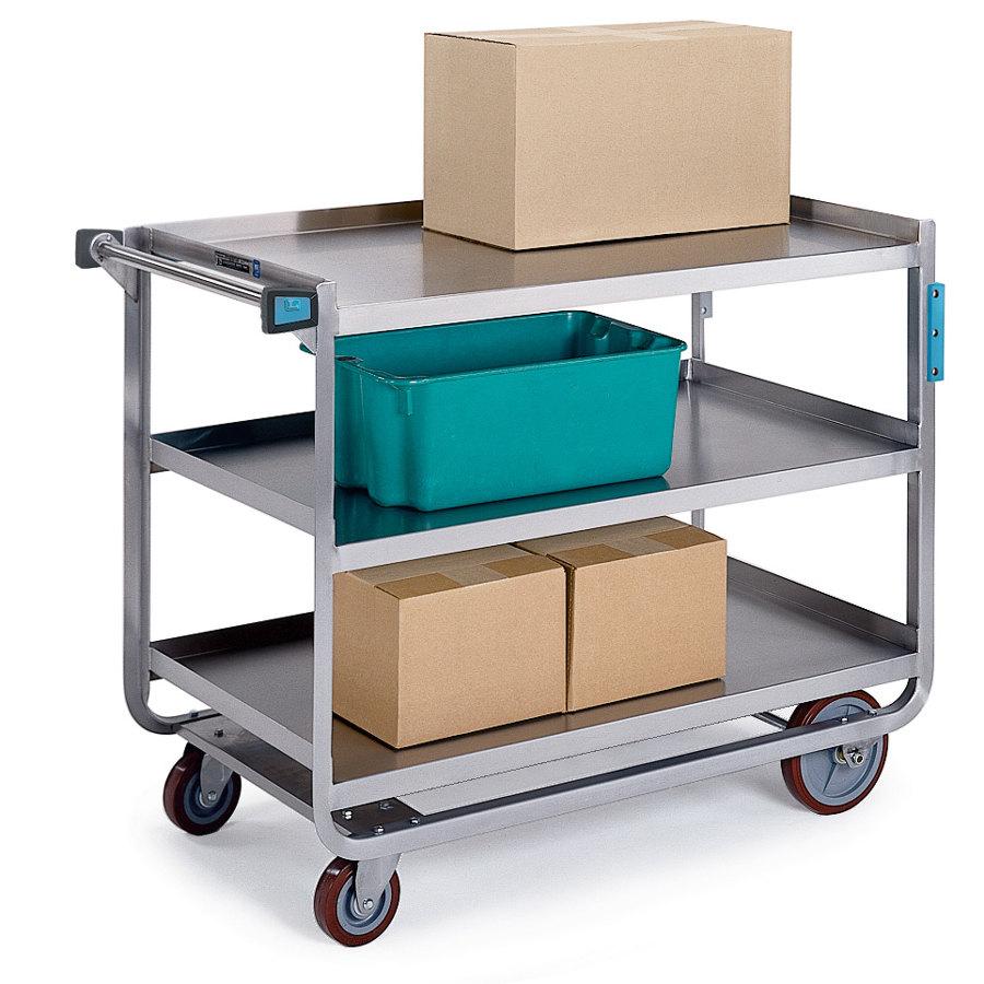 Metal Utility Cart: Lakeside 944 Extra Heavy Duty Stainless Steel 3 Shelf