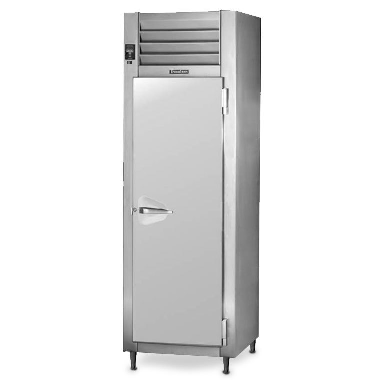 Traulsen RHT126WPUT-FHS Stainless Steel 20.4 Cu. Ft. One Section Solid Door Shallow Depth Pass-Through Refrigerator - Specification Line Main Image 1