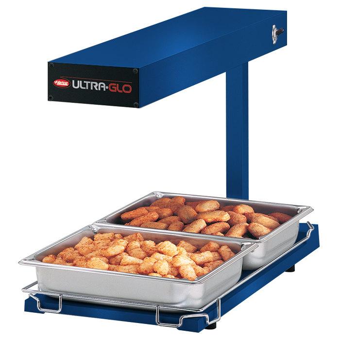 Hatco UGFFB Ultra-Glo Brilliant Blue Portable Food Warmer with Base Heat - 120V, 1000W