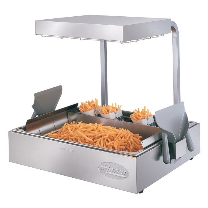 "Hatco GRFHS-PT26 Glo-Ray 29"" Pass-Through Portable Fry Holding Station with 4"" Base - 120V, 1440W"