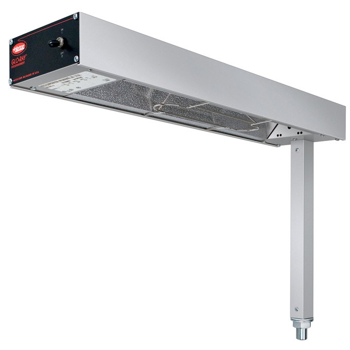 """Hatco GRFS-24I Glo-Ray 6"""" Fry Station Overhead Warmer with Metal Elements, Plug, and Infinite Controls - 120V, 500W"""