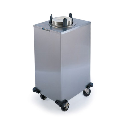 """Lakeside 6107 Stainless Steel Mobile Enclosed Single Stack Heated Dish Dispenser / Warmer for 6 5/8"""" to 7 1/4"""" Dishes - 120V Main Image 1"""