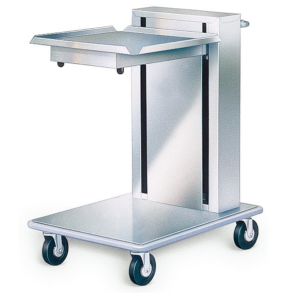 """Lakeside 820 Stainless Steel Mobile Cantilever Tray Dispenser for 20"""" x 20"""" Trays Main Image 1"""