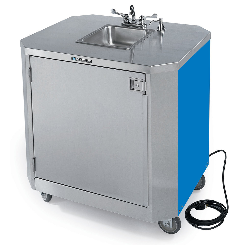 Hot and cold water faucet for outdoor sink -  Sink Cart With Hot Cold Water Main Picture