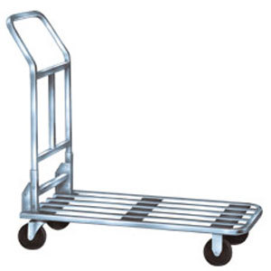 "Winholt 500CH 37"" x 18"" Chrome Plated Steel Stocking Cart - 750 lb. Capacity"