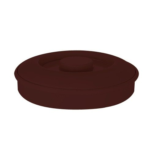 "GET TS-800 Brown 7 3/4"" Melamine Tortilla Server with Lid - 24/Case"