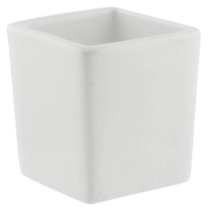 10 Strawberry Street WTR-2SQTBBWLTALL Whittier 3 oz. White Tall Square Porcelain Tid Bit Bowl - 12/Case