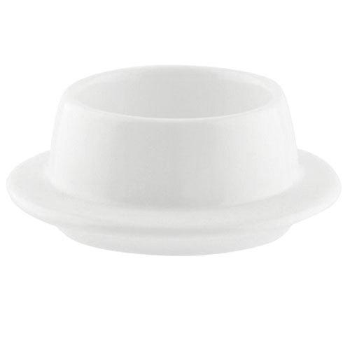 10 Strawberry Street WTR-2SAUDSH Whittier 1.5 oz. White Porcelain Butter Dish - 12/Case