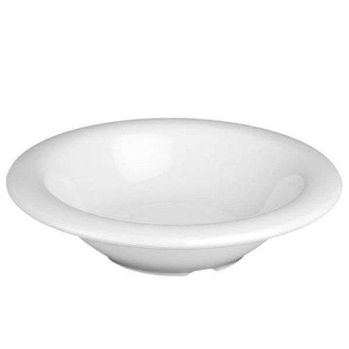 Thunder Group CR5608W White 8 oz. Melamine Salad Bowl - 12/Case Main Image 1