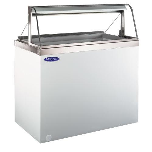 "Nor-Lake HF040-WWG/0LCG Nova 27"" Curved Glass Ice Cream Dipping Cabinet Main Image 1"