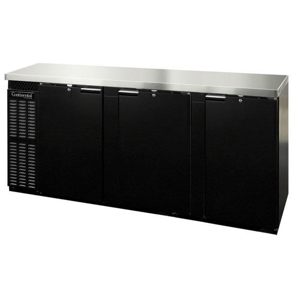 "Continental Refrigerator BBC90 90"" Solid Door Back Bar Refrigerator"