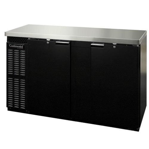 "Continental Refrigerator BBC69 69"" Solid Door Back Bar Refrigerator"