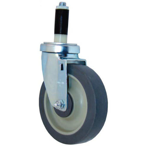 "All Points 26-2398 5"" Swivel Stem Caster for 1"" O.D. Tubing - 300 lb. Capacity Main Image 1"