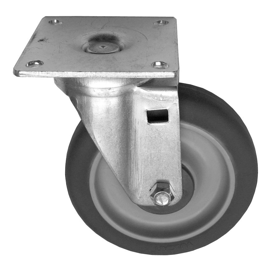 "All Points 26-2426 5"" Swivel Plate Caster - 300 lb. Capacity"