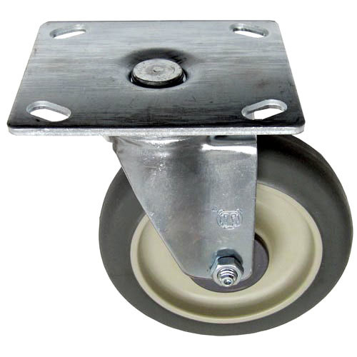 "All Points 26-2428 5"" Swivel Plate Caster - 300 lb. Capacity"