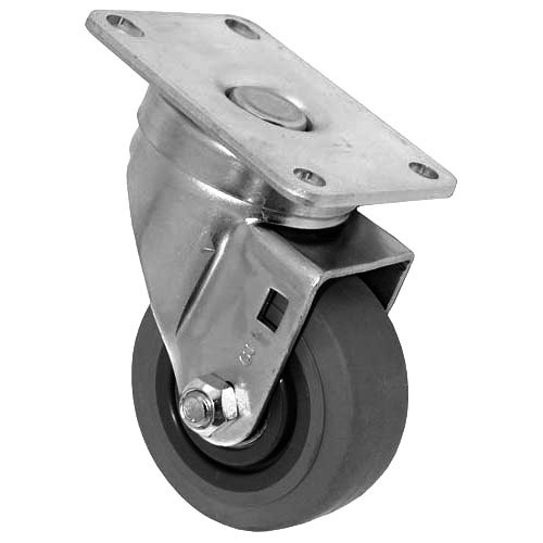 "All Points 26-2372 3"" Swivel Plate Caster - 200 lb. Capacity"