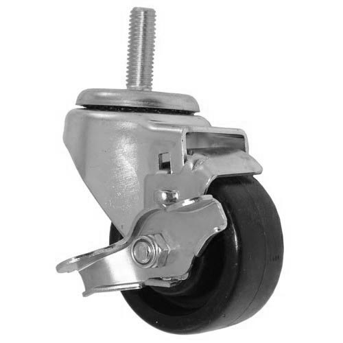 "All Points 26-3284 3"" Swivel Threaded Stem Caster with Brake - 1/2""-13 x 1 1/2"" Stem, 220 lb. Capacity"
