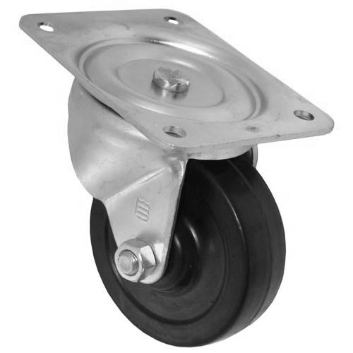 """All Points 26-3329 4"""" Swivel Plate Caster - 300 lb. Capacity"""