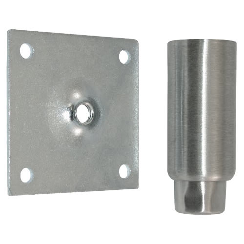 "Component Hardware A41-5032 Equivalent Stainless Steel 4"" Adjustable Equipment Leg; Hex Foot; 3 1/2"" Plate Mount"