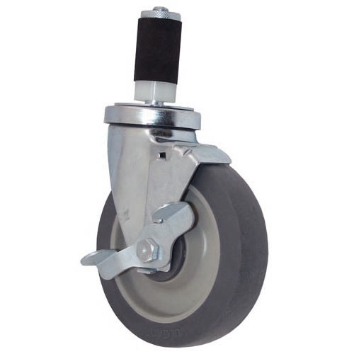 "All Points 26-3411 5"" Swivel Stem Caster with Brake for 1 3/16"" O.D. Tubing - 300 lb. Capacity"