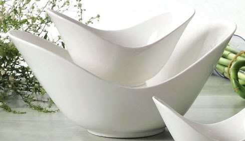 """CAC SHER-72 Sheer 11"""" Bone White Porcelain Spirit Dish - 12/Case"""