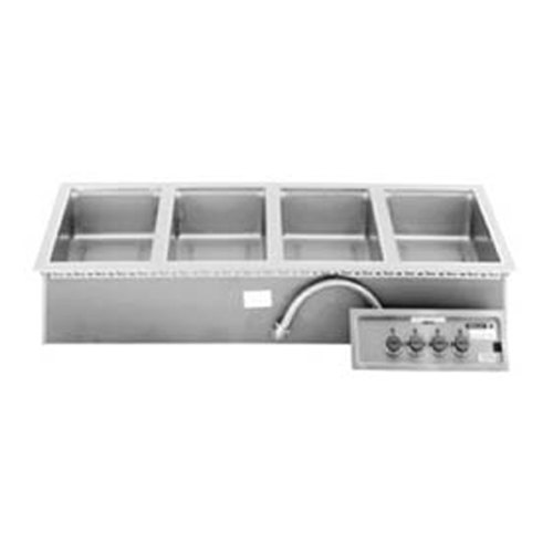 Wells 5P-MOD400TDAF Four Pan 4/3 Size Drop In Hot Food Well with Drain and Autofill - 208/240V, 1240/1650W Main Image 1