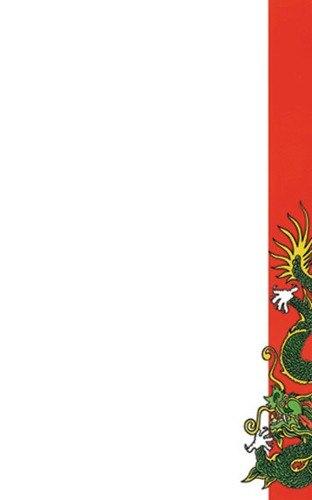 "8 1/2"" x 11"" Menu Paper - Asian Themed Dragon Design Right Insert - 100/Pack"