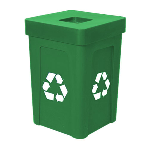 IRP 1070 Green Stacking Flat Lid Recycle Bin - 48 Gallon