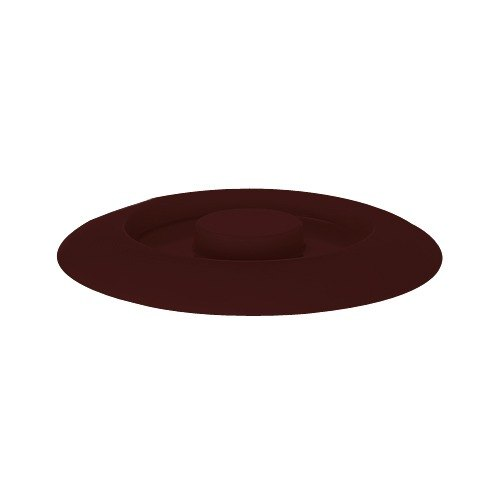 """GET TS-800-L Brown 7 3/4"""" Melamine Replacement Lid for TS-800 7 3/4"""" Tortilla Server - 12/Pack Main Image 1"""