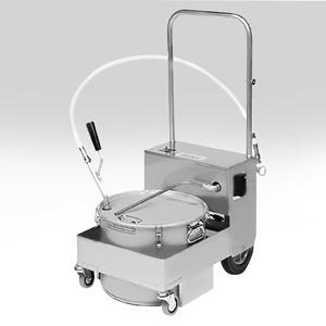 MirOil BS505 55 lb. Fryer Oil Electric Filter Machine and Discard Trolley - Countertop 120V